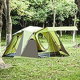 BELLAMORE GIFT Campingzelt für 3 bis 4 Personen Zelte Familienzelt WS:3000mm (110+215+70)*215*165cm