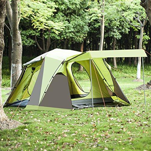 BELLAMORE GIFT Campingzelt Familienzelt für 3 bis 4 Personen Zelte WS:3000mm (110+215+70)*215*165cm