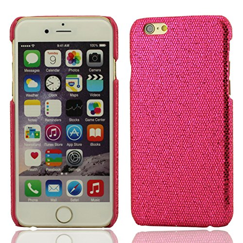 Apple iPhone 7 4.7 inch Coque Protection Case, Spécial Texture Coloré Serie Diverses Couleurs Mince Poids Léger Briller Luxe Joli Dur Housse de protection rose vif