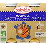 Babybio Pots Mouliné de Carotte des Landes/Quinoa 400 g -