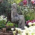 Unbekannt Gartenfigur Statue/Skulptur aus Steinguss Deko Figur frostsicher 38 cm grau von Zauberblume auf Du und dein Garten