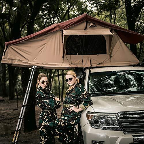 Tienda techo coche 1.9M Tiendas techo Cámping Tiendas ancho de extensión Cama Móvil Resistente al agua, protección UV sol Duradero ventilado resistente al agua Cabaña Portatil (No incluído coche)