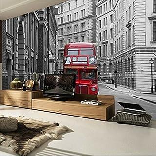 3D Große City Bus TV Einstellung Wand Wandmalereien das Wohnzimmer der Schlafzimmer Wall Papier Aufkleber, 3XL(14'7