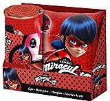 Miraculous, die Geschichten von Ladybug und Chat Noir lb17069Set Decke Decke + Kissen, Fleece, Mädchen, mehrfarbig, Marinette