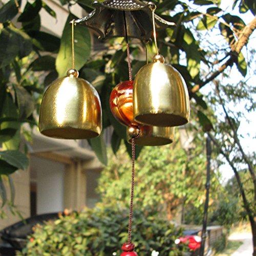 Chinesische Windspiel 2-Schicht Dach 6 Glocken Glück Feng-Shui Garten Dekor - 3