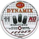 WFT Round Dynamix Feeder blood red 180m, geflochtene Angelschnur zum Feederangeln, Schnur für Karpfen, Feederschnur, Durchmesser/Tragkraft:0.12mm / 11kg Tragkraft
