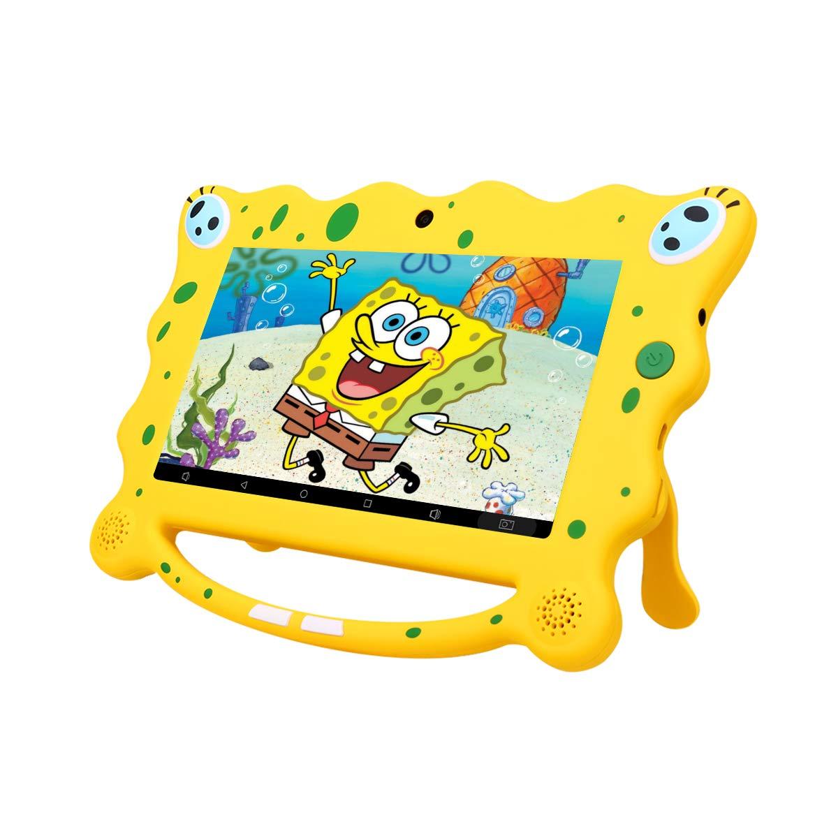 Ainol 7C08x-Tablet infantil de Android 8.1,tablet para niños de 7pulgadas,regalo para niños,1GB+16GB con wifi,doble cámara,tablet de Bob Esponja,juegos educativos,Azul