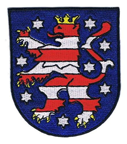 Aufnäher Bügelbild Iron on Patches Applikation Landeswappen Thüringen