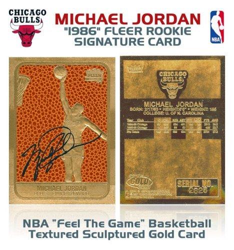 Michael Jordan Fleer Rookie Feel the Game Gold Sig Card by Basketball