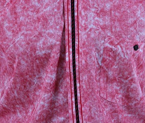 Excellent Hemd in Batik rosé- rot, für Herren BESTE QUALITÄT, HK Mandel Freizeithemd Langarm Normal Nicht Tailliert, 3073 Batik rosé- rot