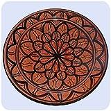 Simandra Orientalischer Keramik Teller Handbemalt marokkanische Keramikschüssel Wandteller klein Color Rot