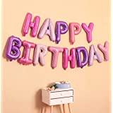 AMFIN® (16 Inch) Happy Birthday Foil Balloon Set for Birthday Party Supplies , Happy Birthday Balloons for Birthday Decoratio