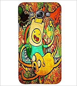 PrintDhaba Graffiti D-6065 Back Case Cover for SAMSUNG GALAXY A8 (Multi-Coloured)