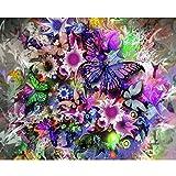 wuayi DIY 5D Diamant, 5D Diamant Gemälde Set Kristall Diamant Stickerei Bilder Malerei Kits für Home Wand-Decor Bunten Schmetterling