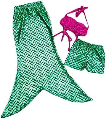 Highdas ni?as de 3 PC princesa sirena de la cola para nadar Bikini traje de ba?o determinado