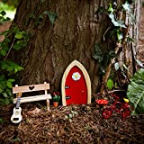 Magical Irish Fairy Door. The Irish Fairy Door Company. Red Arched Door. Handcrafted and Decorated in Ireland. Unlock a World of Imagination.