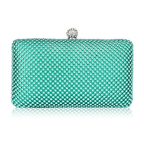 TrendStar Frau Kupplungs Taschen Damen Kristall Wulstige Abend Partei Hochzeit Handtaschen A - Smaragd