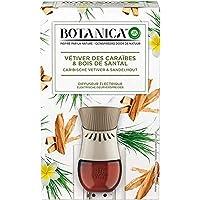 Air Wick Botanica Désodorisant Maison Diffuseur Electrique + 1 Recharge d'Huile Essentielle de Vétiver/Bois de Santal 19…
