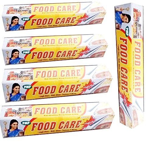 FOOD CARE ALUMINIUM FOIL 25 MTR X 5PCS