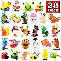 Juguete Wind Up, 28 Paquetes de Juguete de Cuerda Surtida, Wind Up Juguetes para Fiestas Animales Regalo Ideal para Niños Niñas Infantiles
