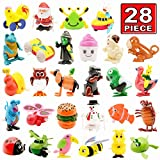 Wind Up Toy,28 Pack Assorted Clockwork Toy Set,Original Color Wind Up Animal Party Favors Toy Great Gift For Boys Girls Kids Toddlers