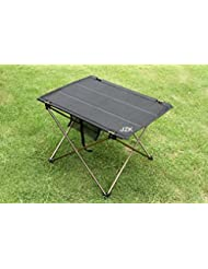 JZK® Portátil plegable mesa de camping al aire libre de la comida campestre turística Oxford Tela Tabla, aleación de aluminio Holder, 57 x 42 x 38 cm