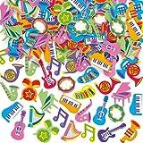 """Moosgummi-Aufkleber """"Musikinstrumente"""" - Sticker Set zum Basteln für Kinder und als Dekoration ideal zum Lernen - 100 Stück"""