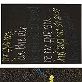 Design Teppich Love-Message | moderner Wohnzimmerteppich mit Trend Schrift Muster | in 2 Größen für Wohnzimmer, Esszimmer, Schlafzimmer etc. | dunkelbraun / grün / blau 120x170 cm