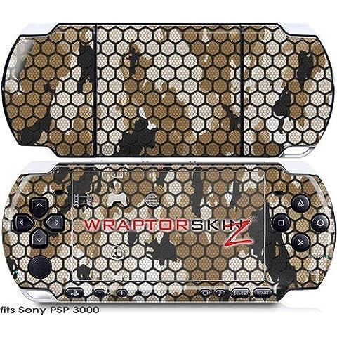 Sony PSP 3000 Decal Style Skin - HEX Mesh Camo 01 Tan by WraptorSkinz