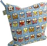 Vagabond Ltd bolsa de bolsas de aseo hule plana Camper Van Pattern Talla L