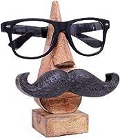 """Cadeau Jour Mere, Quirky Fait main """"Nez Forme"""" en bois de rose Lunettes Lunettes de soleil Support pour decor de la maison et du bureau (Moustache nez forme marron2)"""