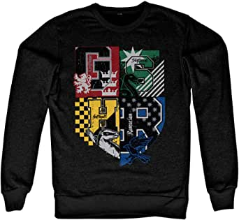 Harry Potter Officially Licensed Dorm Crest Sweatshirt (Black)