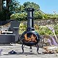 Thompson Morgan Garden Chimenea Wood Burner Fire Pit Diameter 445 X H104cm Large by Clifford James