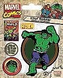Pyramid International Marvel Comics (Hulk Retro) Stickers muraux en Vinyle, Papier, Multicolore, 10x 12.5x 1.3cm