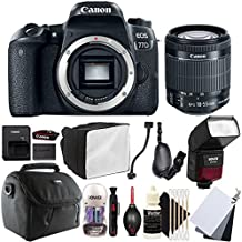 Canon EOS 77D 24.2MP Digital SLR Camera With 18-55mm EF-is STM Lens, SFD-740C Speedlite Flash And Accessory Kit