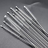 TOOGOO 10pcs Nylon Straw Cleaners Brush Cleaning Drinking Pipe Cleaners Stainless Steel Glass