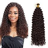 Extension Capelli Tessitura 1 Bundle 14' 35cm Capelli Ricci Ondulati Water Wave 100g Fascia Unica Curly Hair Sintetico Castano Scuro