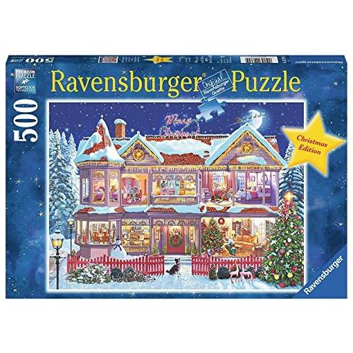 Ravensburger-14769-Das-Weihnachtshaus-Puzzle