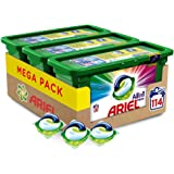 Ariel Pods Detergente Lavadora Cápsulas, 114 Lavados (Pack 3 x 38), Color y Brillo