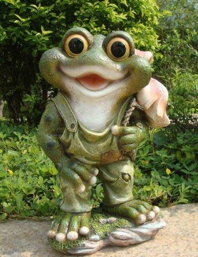 Design 2 Frosch XXL 34 cm Hoch 11149-2 Deko Garten Gartenzwerg Figuren Dekoration