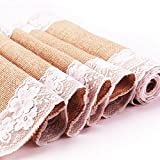 Sweetme 12' x 108' Natural Jute Hessian Burlap Table Runner For Rustic Wedding Party Event