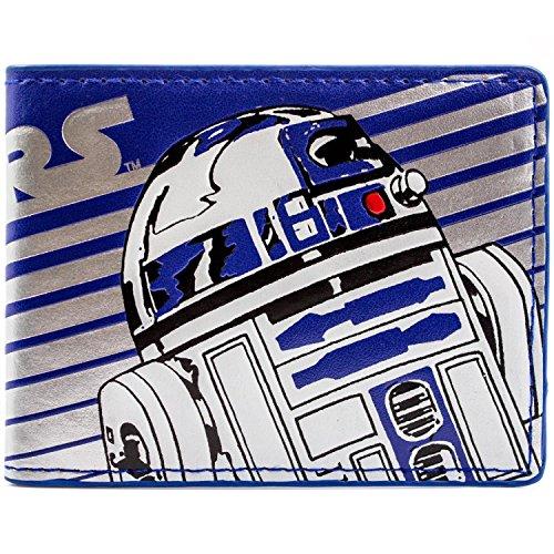 D2 Droid Streifen Blau Portemonnaie Geldbörse (Kind R2d2 Kostüm)