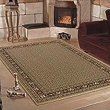 Calidad Oriental tradicional lindaba con diseño Beige suave alfombra clásica de 6 tamaños, 160 x 230 cm (5'3'' x 7'7'')
