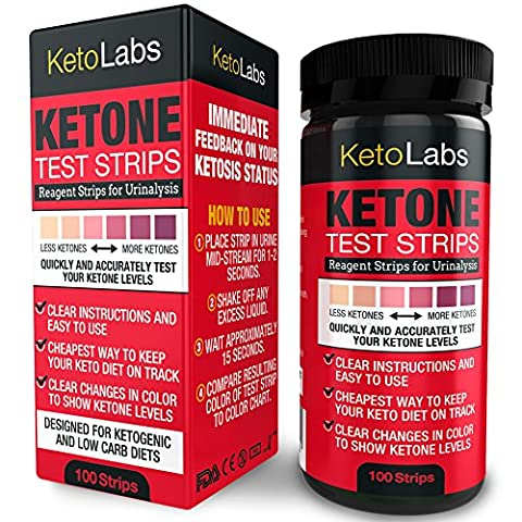 KetoLabs Ketone Test Strips | Accurately Measures Ketosis in 15 Seconds | Designed for Ketogenic and Low Carb Diets | 100