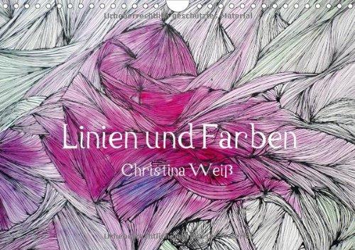 Linien und Farben/Geburtstagskalender (Wandkalender 2014 DIN A4 quer): Lebendige Linien als...