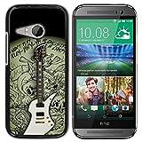 Graphic4You Carlino Guitar Art Case Design Harte Dünn Hülle Tasche Schale Schutzhülle für HTC One Mini 2