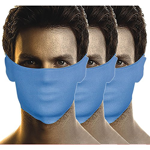 Bikers Gear Anti-Pollution Mask Set Of 3 (Blue-Blue-Blue)