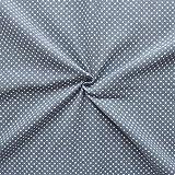 Feincord Baumwollstoff Punkte Klein Stoff Meterware Grau