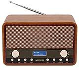 MEDION LIFE E66312 DAB+ Radio, UKW, 20 Senderspeicher, Netz- oder Batteriebetrieb, Teleskopantenne, braun