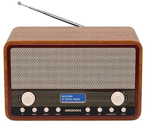 MEDION LIFE E66312 DAB+ Radio, UKW, 20 Senderspeicher, Netz- oder Batteriebetrieb, Teleskopantenne,